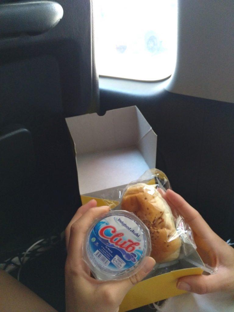El pequeño snack que nos dieron en Joglosemar