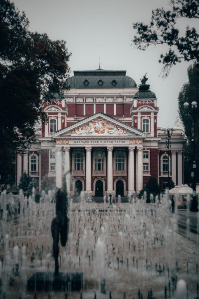 El Teatro Nacional Ivan Vazov en Sofía