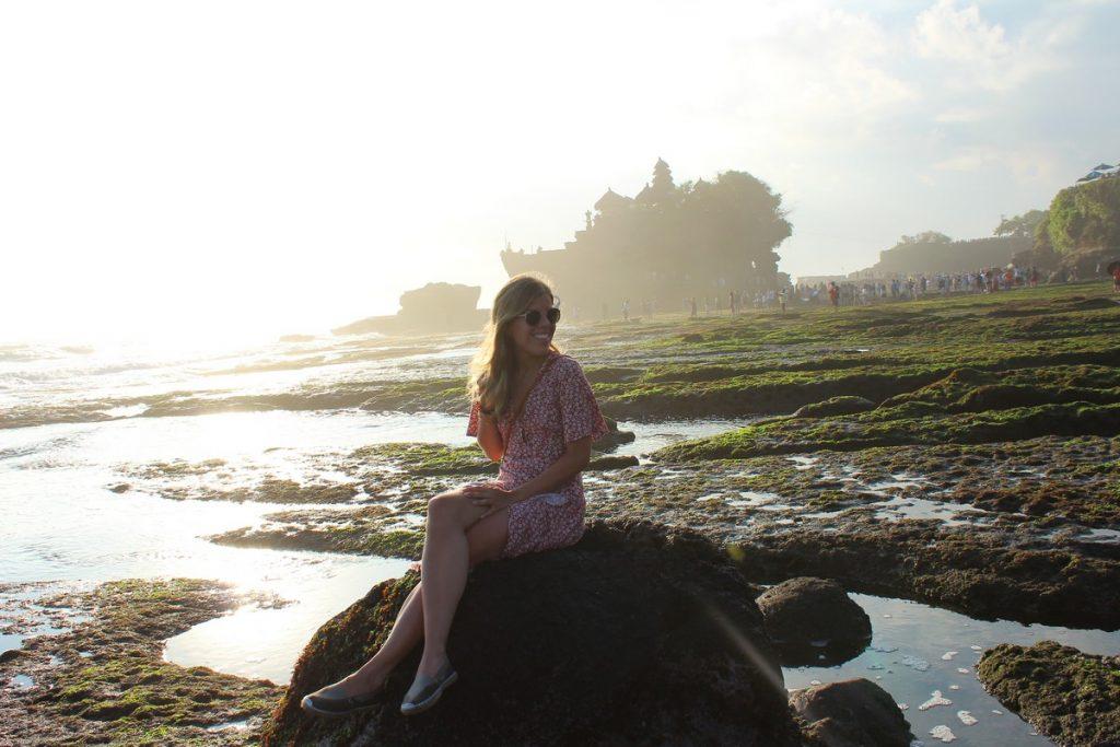 La parte sin turistas del Pura Tanah Lot