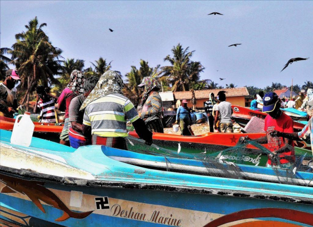 La esvástica hindú en un barco de Bali