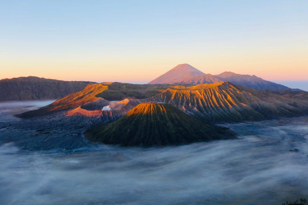 Monto Bromo en la isla de Java, Indonesia