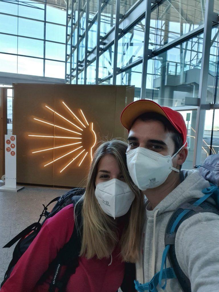 En el aeropuerto de Santiago