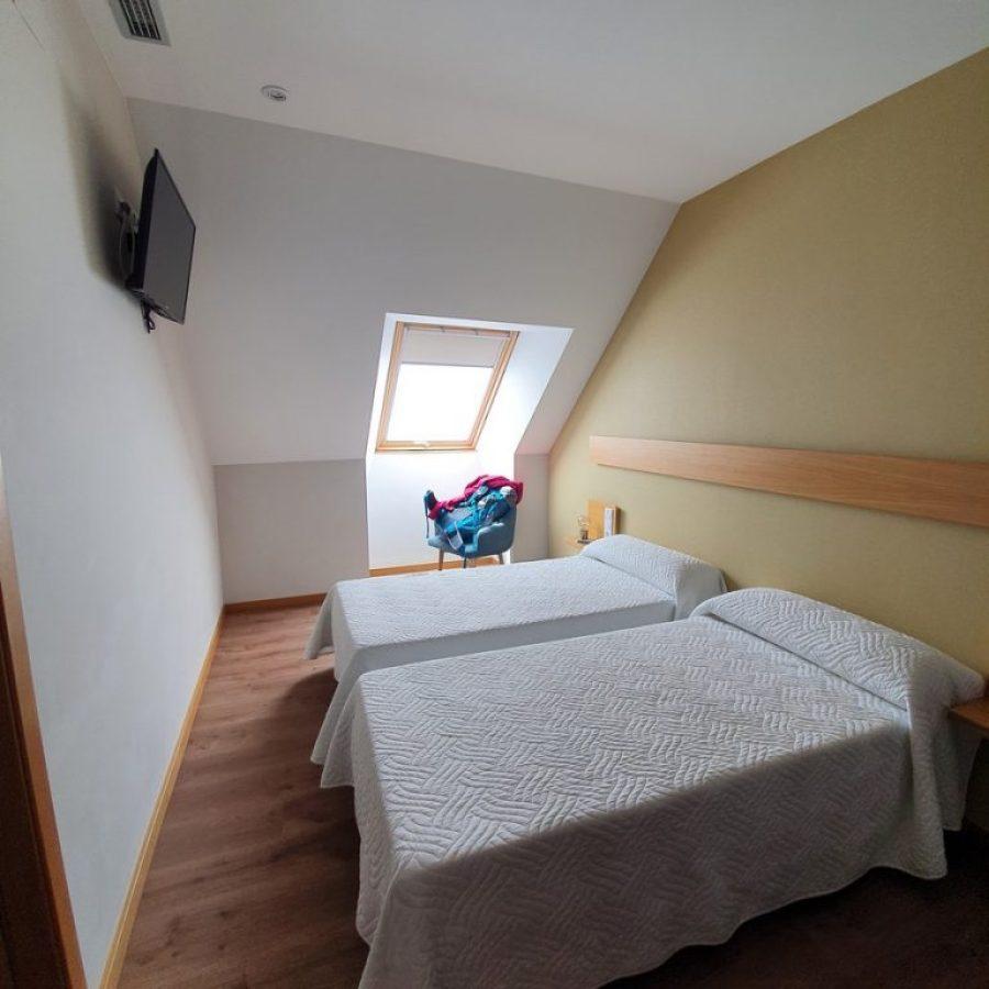 Nuestra habitación privada en Portomarín