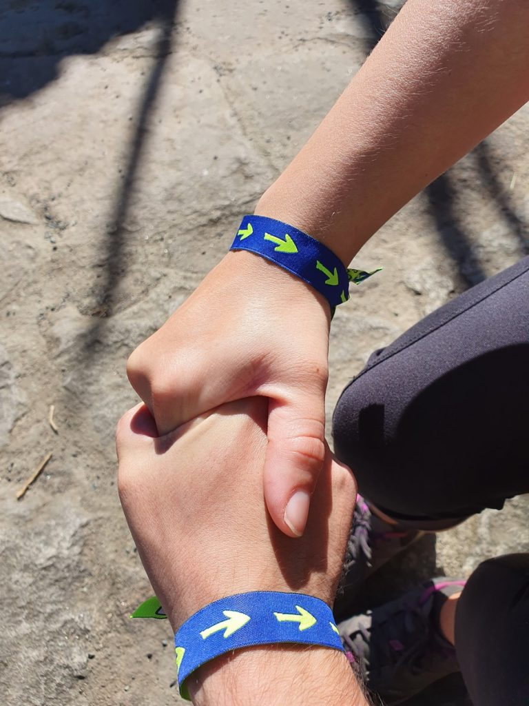 Nuestras pulseras del Camino de Santiago
