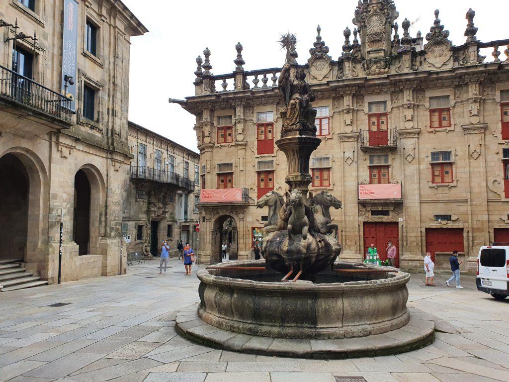 La plaza de Platerías de Santiago de Compostela