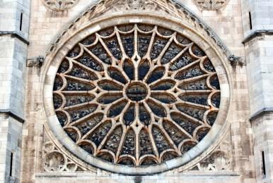 Roseton Catedral de León 01