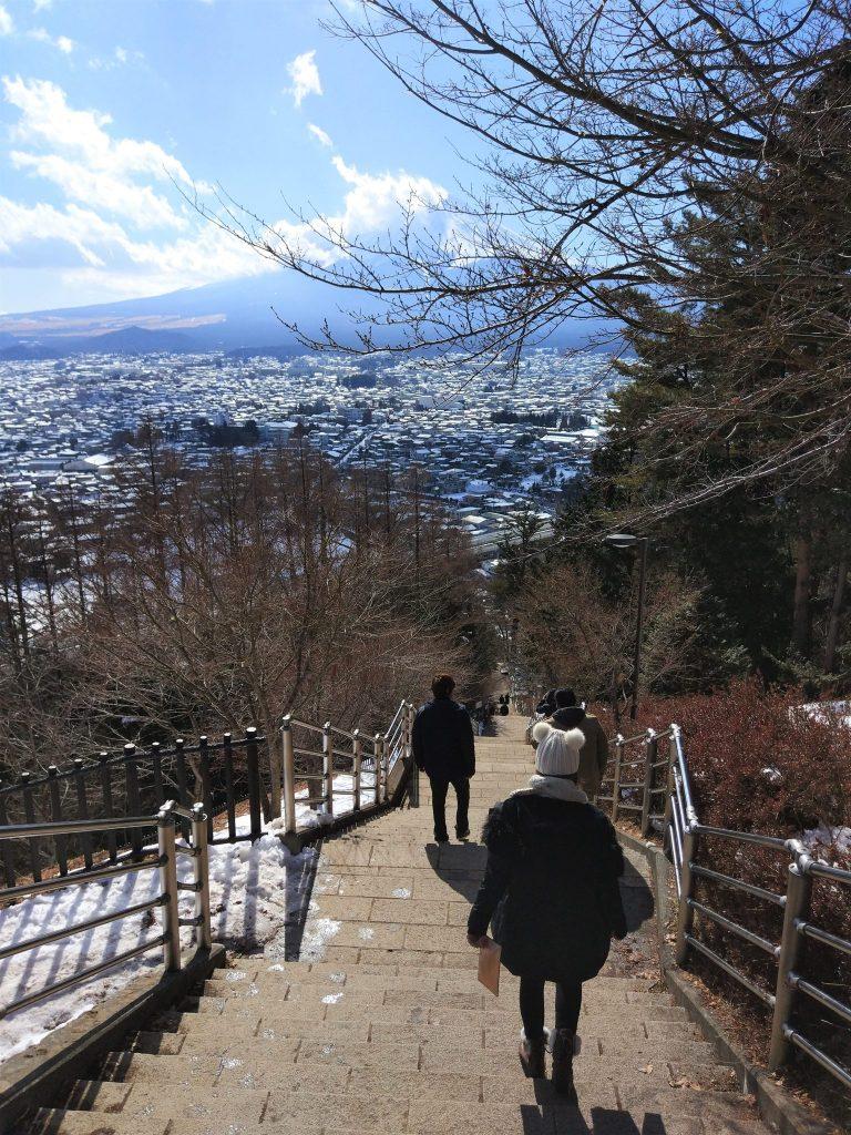 Escaleras Chureito Pagoda