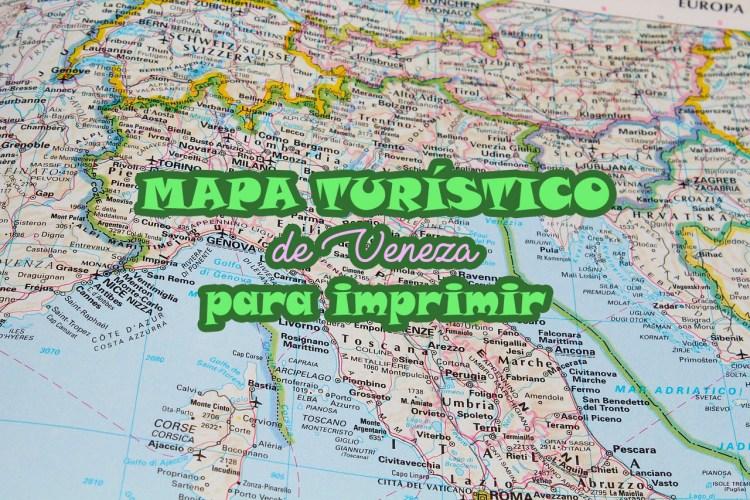 mapa veneza Mapa turístico de Veneza para imprimir   Viajar Itália mapa veneza