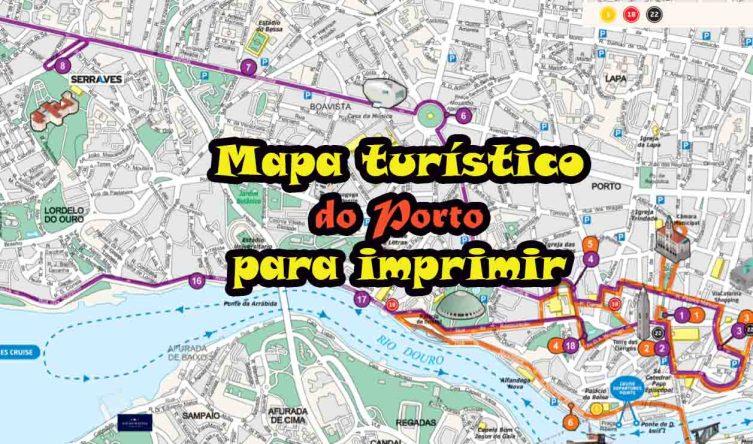 Mapa turístico do Porto para imprimir - Viajar Lisboa
