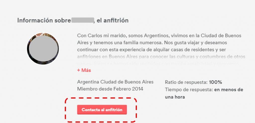 Airbnb contacto
