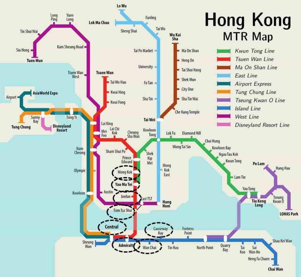 donde hospedarse en hong kong metro mtr