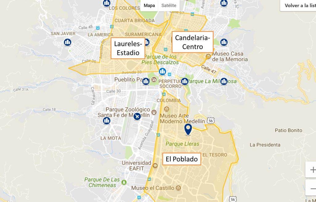 Donde alojarse en Medellin