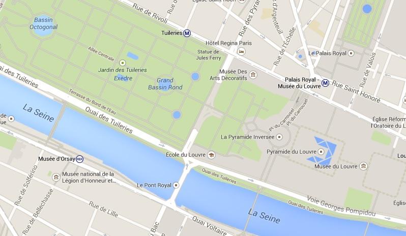Paris: Transporte público próximo do Louvre