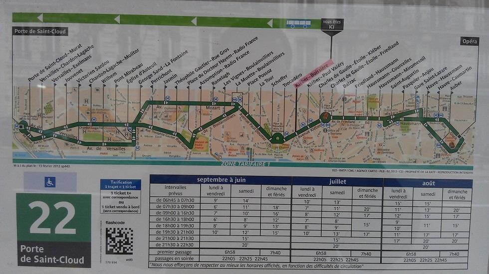 Linha 22: meu transporte até a Opéra