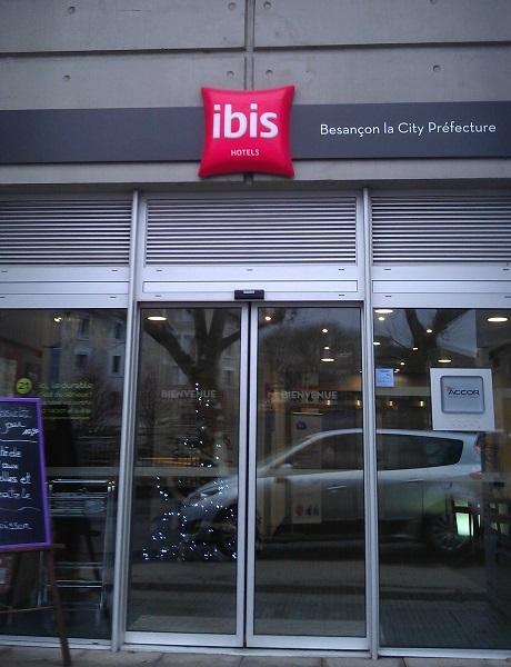 Entrada do hotel Ibis Besançon