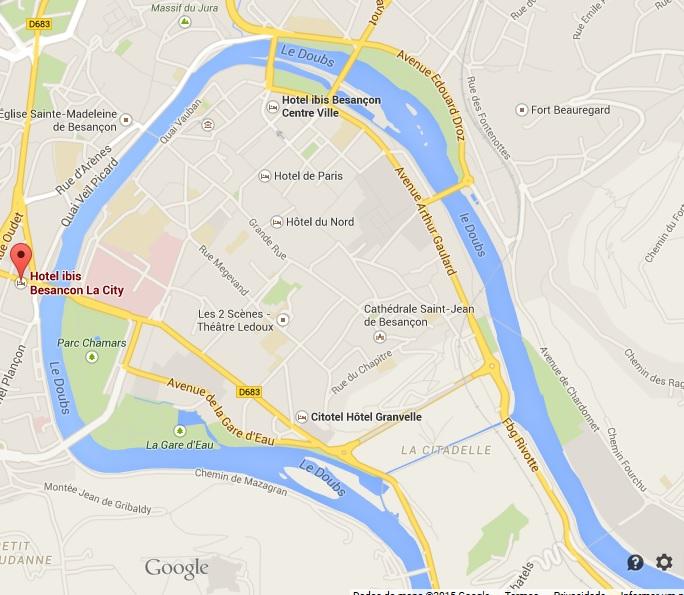 Localização do hotel