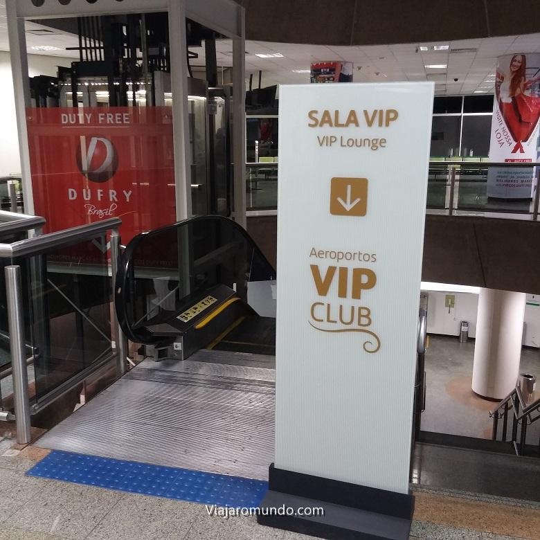 Placa da Sala VIP Internacioanal