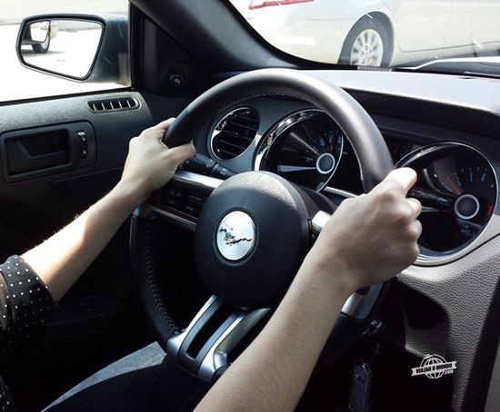 Nova motorista no comando