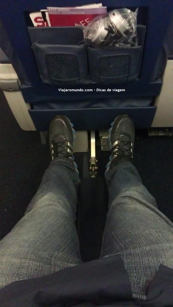 Bastante espaço para as pernas