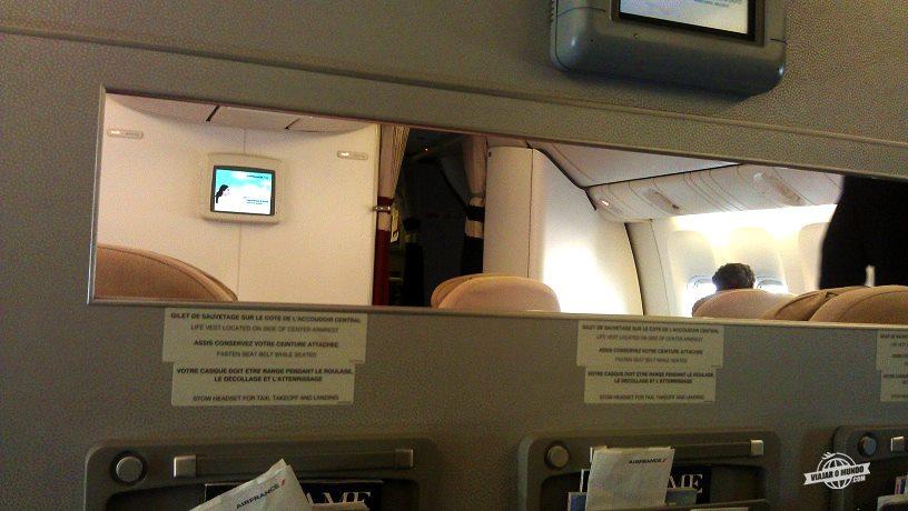 Separação entre a Primeira Classe e a Classe Executiva da Air France