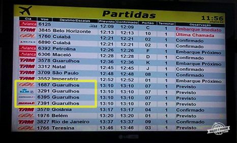 Código compartilhado: Gol 1687, KLM 3291, Air France 6395 e Iberia 7391 - Curiosidades: Gol 1687 / Brasília - Guarulhos