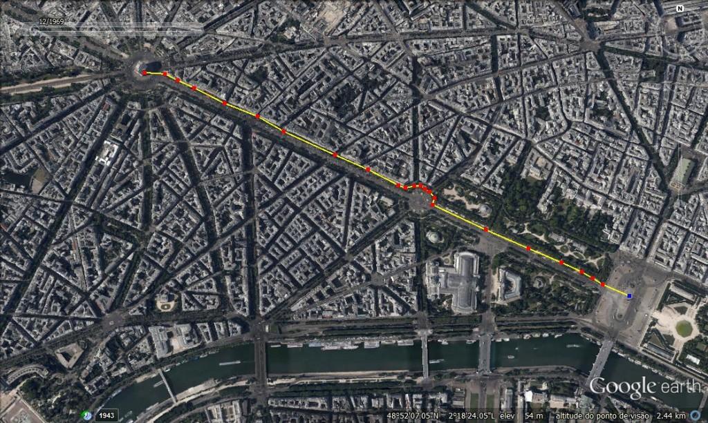 Caminhada pela Champs-Élysées