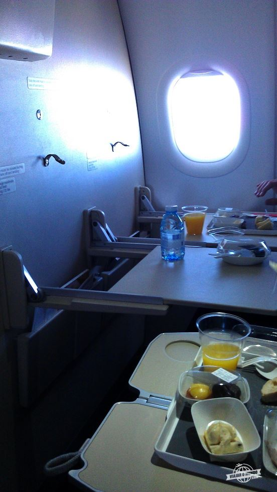 Almoço - Classe Executiva da Air France no Airbus A320