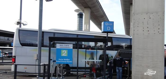 Terminal 2E: Parada da linha 2 - Les cars Air France