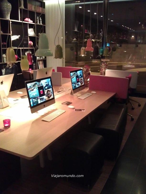 Computadores para uso dos hóspedes