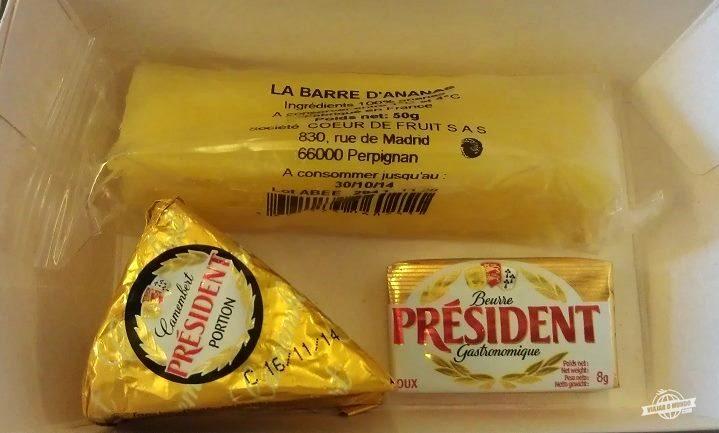 Abacaxi, queijo e manteiga