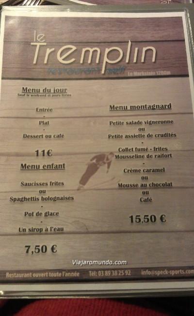 Cardápio - Le Tremplin
