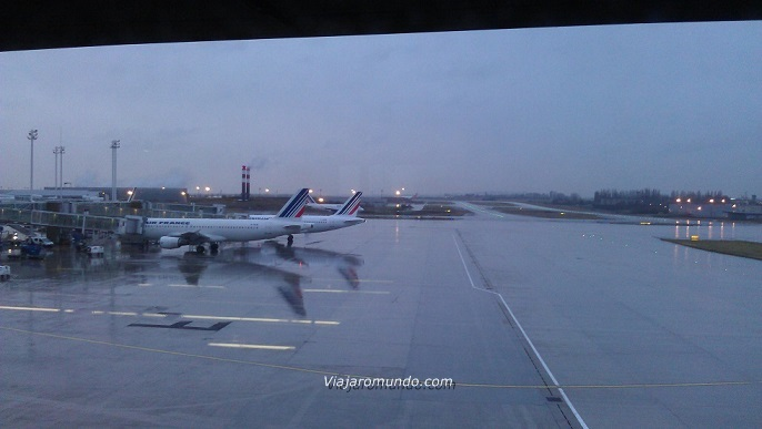Aeronaves no pátio