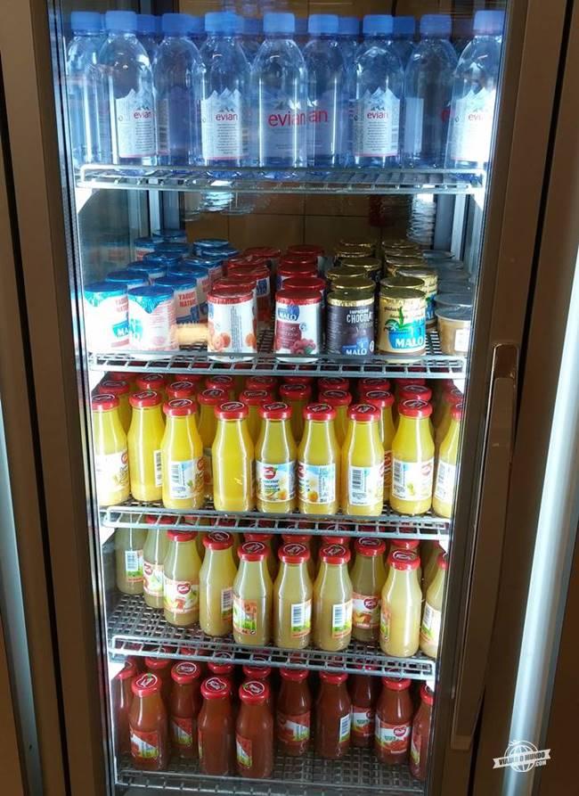 Bebidas - Buffet - Sala VIP Air France 2E CDG