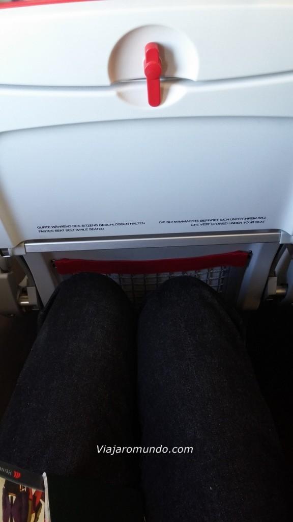 Espaço para as pernas - Assento 2A