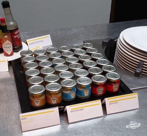 Ketcup, maionese e mostarda