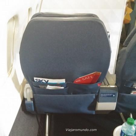 Espaço entre assentos