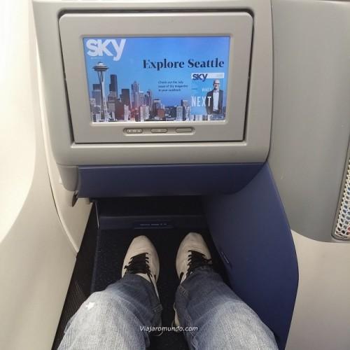 Espaço entre assentos Boeing 767