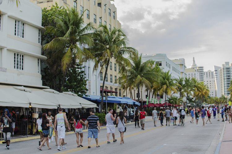 tourists on street