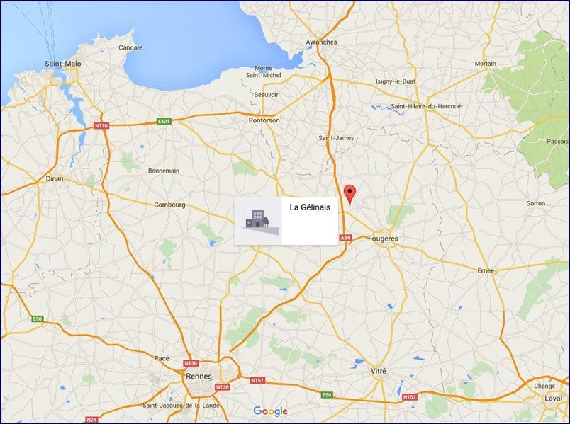 Localização do nosso Gîte (Google Maps)