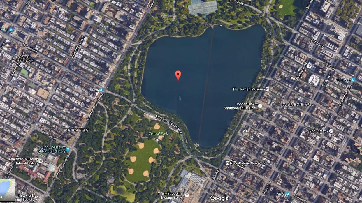 Um dia em Nova York: Jacqueline Kennedy Onassis Reservoir - Google Maps