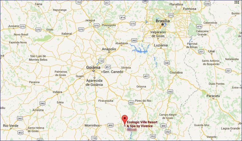 Localização do Ecologic Ville Resort - Brasília (Google Maps)