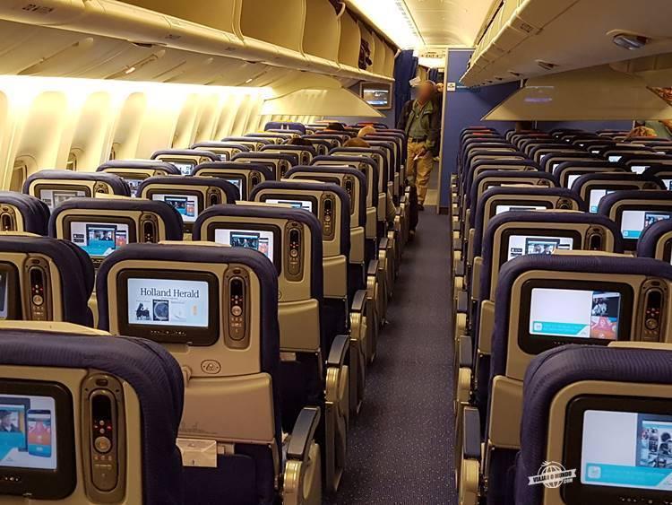 Classe Econômica do Boeing 777 da KLM