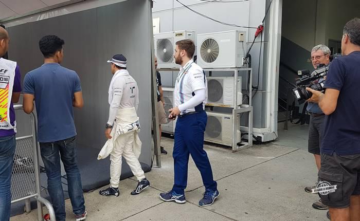 Felipe Massa a caminho das entrevistas