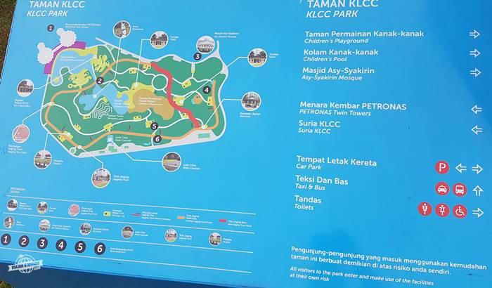 Mapa do KLCC Park