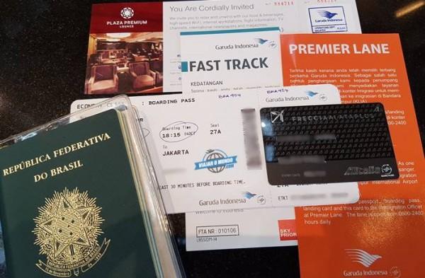 Check-in feito no Aeroporto internacional de Kuala Lumpur