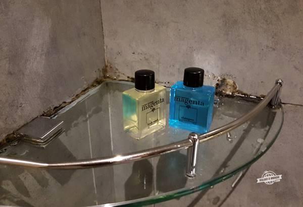 Shampoo e sabonete para o corpo