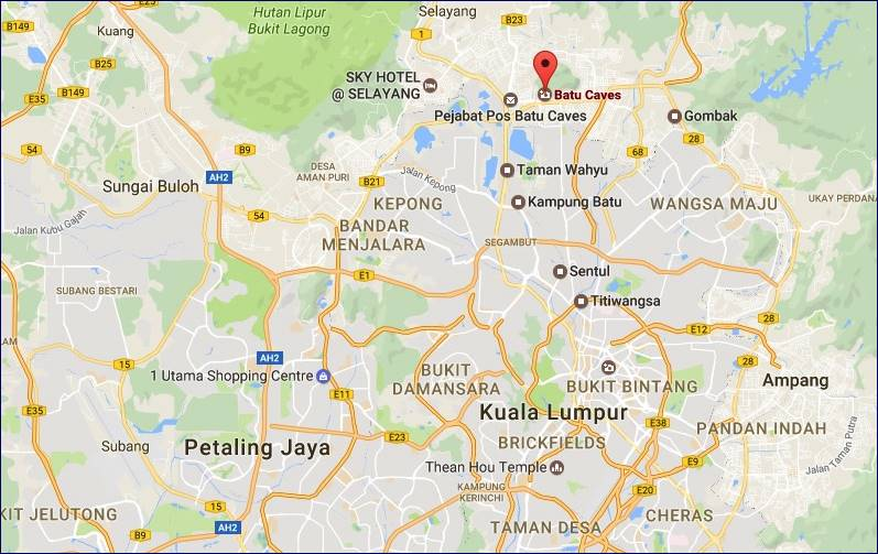 Localização Batu Caves - Google Maps