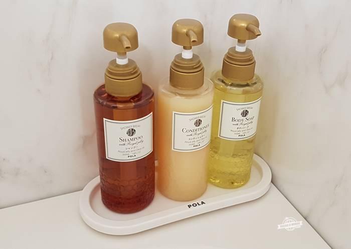 Sabonetes líquidos e shampoo