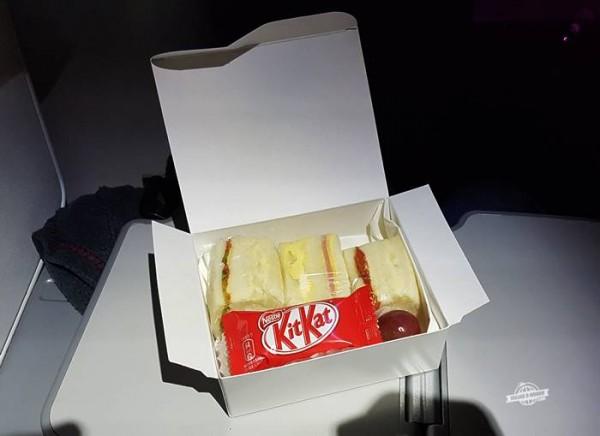 Snacks durante o voo