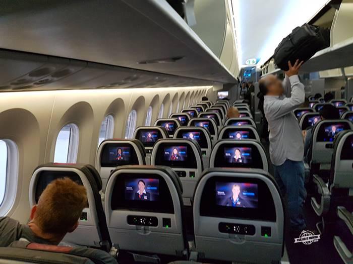 Classe Econômica do 787 da American Airlines